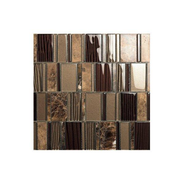 Rio 12 x 12 Glass Mosaic Tile in Brown by Kellani