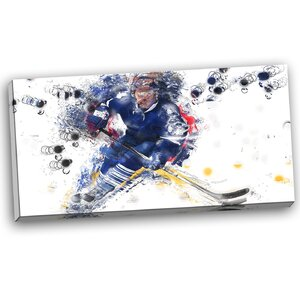 Hockey Penalty Shot Graphic Art on Wrapped Canvas by Design Art