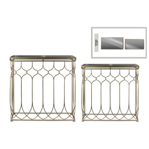 Annika Rectangular 2 Piece Console Table Set with Mirror Top by Everly Quinn