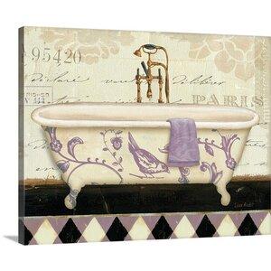 'Lavender Marche de Fleurs Bath II' by Lisa Audit Graphic Art on Wrapped Canvas by Great Big Canvas