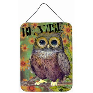 Be Wise Owl By Jamie Carter Painting Print Plaque