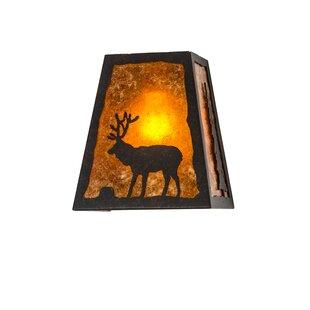 Shop For Greenbriar Oak 1-Light Outdoor Flush Mount By Meyda Tiffany