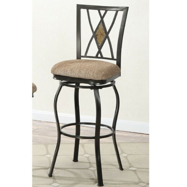 Paradis 29 Swivel Bar Stool (Set of 2) by Winston Porter