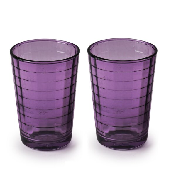 Dsouza Plum Windowpane Juice 7 oz. Glass Every Day Glass (Set of 4) by Ebern Designs