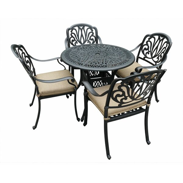 Glenrock Patio 5 Piece Dining Set with Cushions