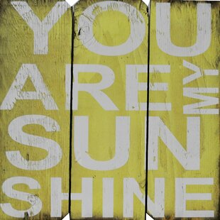 Marvelous You Are My Sunshine Wall Décor