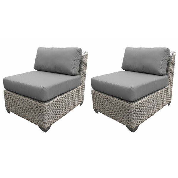 Florence Patio Chair with Cushions (Set of 2) by TK Classics