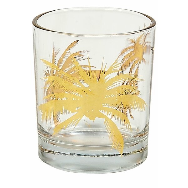 Palm Tree Rock Tumbler (Set of 4) by Tinsley Mortimer