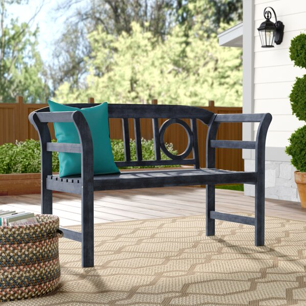 Brinwood 2 Seat Acacia Garden Bench By Charlton Home by Charlton Home Great price