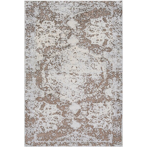 Synthia Brown/Blue Area Rug by Ophelia & Co.