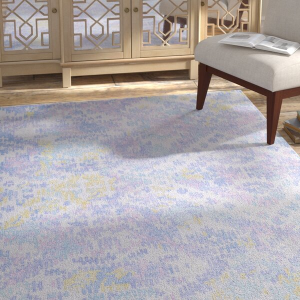 Knowland Hand-Tufted Wool Denim/Blue Area Rug by Bungalow Rose