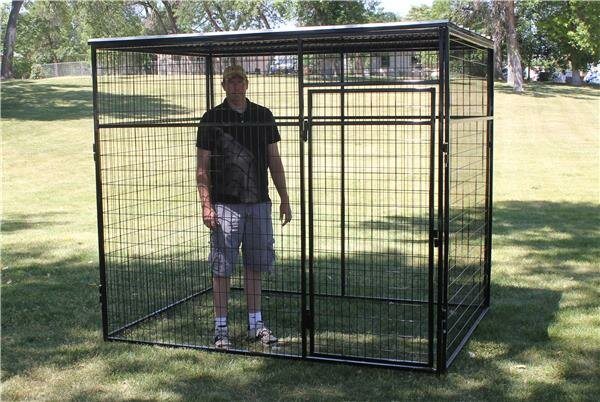 Animal Enclosure with Metal Corrugated Roof by K9 Kennel