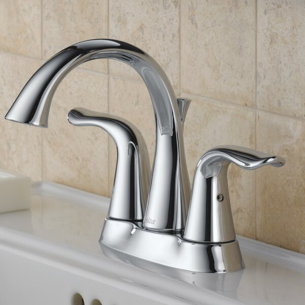 Lahara Centerset Bathroom Faucet with Drain Assembly and Diamond Seal Technology by Delta