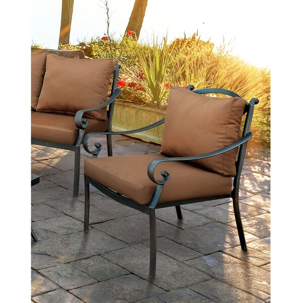 Dominque Scrolled Arm Chair with Cushion by Darby Home Co Darby Home Co