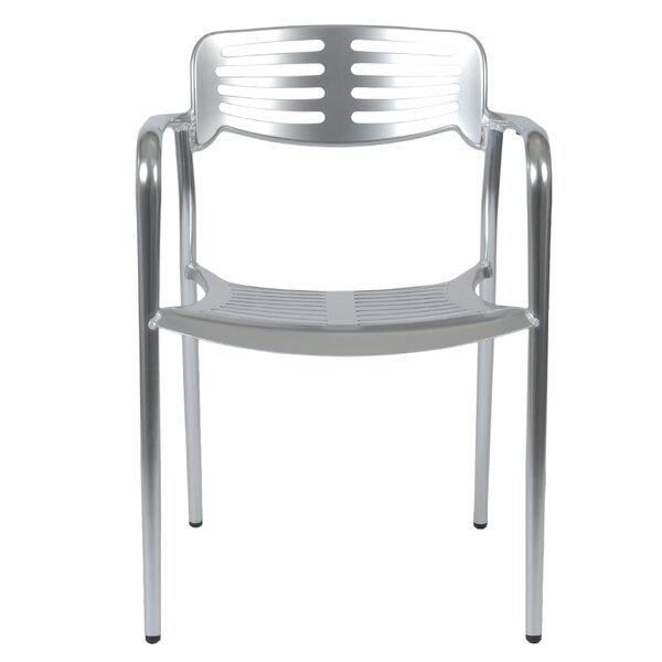 Braylon Stacking Arm Chair (Set of 2) by Orren Ellis