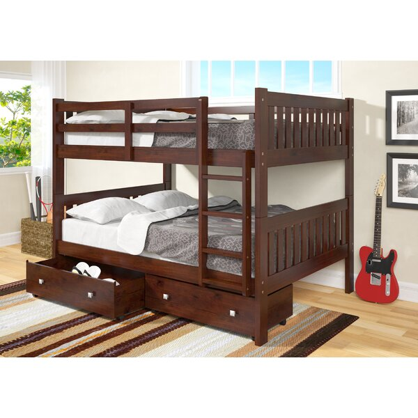 Beeney Full over Full Bunk Bed with Storage by Harriet Bee