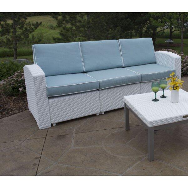Loggins Patio Sofa with Cushions by Brayden Studio Brayden Studio