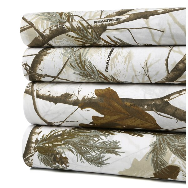 Realtree Camo Snow Sheet Set by Wildon Home ®