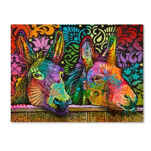 'Donkeys' Graphic Art Print on Wrapped Canvas by Trademark Fine Art