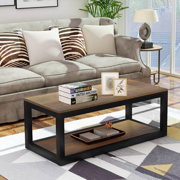 Yisroel Floor Shelf Coffee Table By Union Rustic