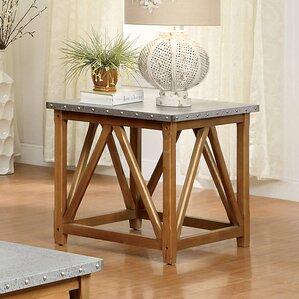 Aleah End Table by Gracie Oaks