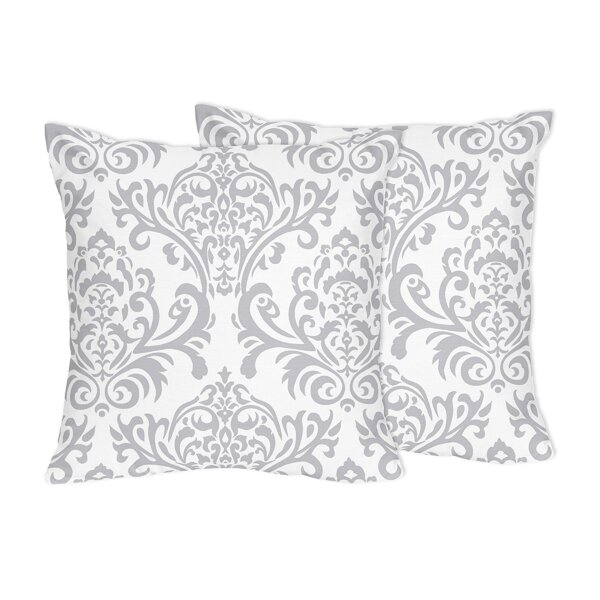 Elizabeth Damask Cotton Throw Pillow (Set of 2) by Sweet Jojo Designs