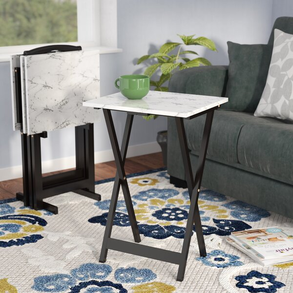 Riceboro 5 Piece TV Tray Set by Zipcode Design