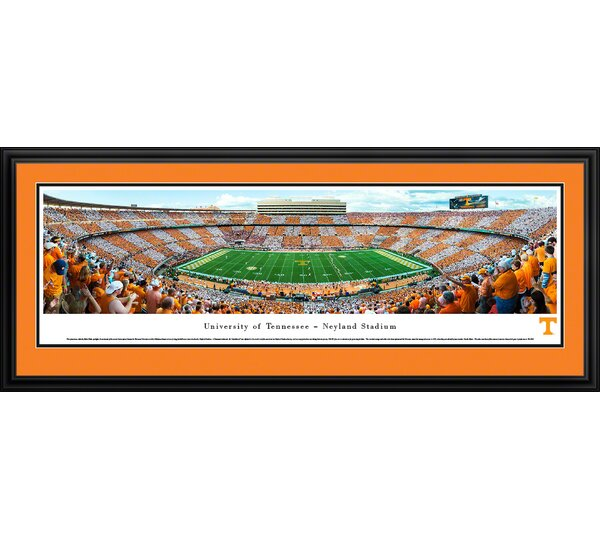 NCAA Tennessee, University of - Football - 50 Yard Line by Robert Pettit Framed Photographic Print by Blakeway Worldwide Panoramas, Inc