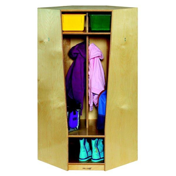 3 Tier 2 Wide Coat Locker by Childcraft