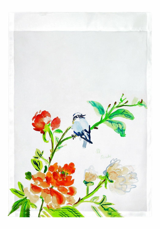 Betsy Drake Interiors Bird And Flowers 2 Sided Garden Flag Wayfair