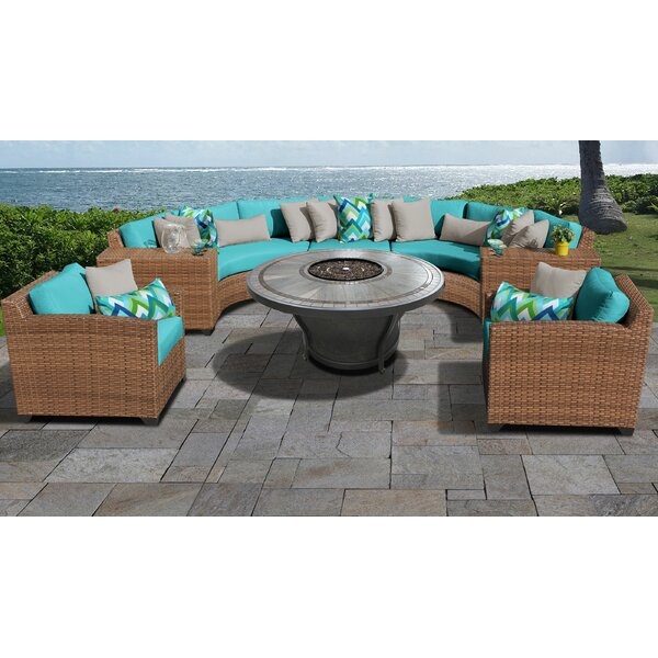 Waterbury 8 Piece Sectional Seating Group with Cushions (Set of 8) by Sol 72 Outdoor
