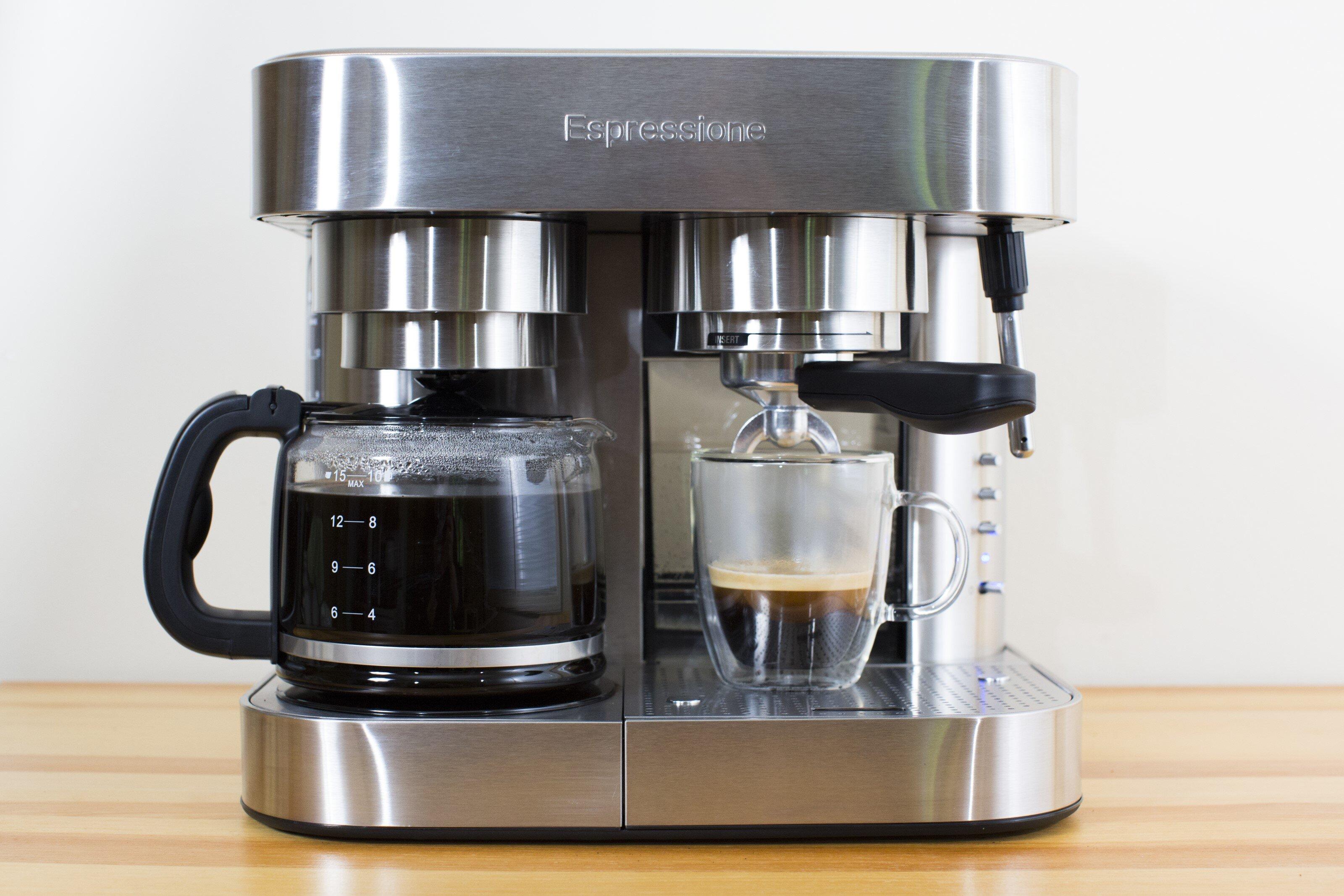 Espressione Stainless Steel Combination Coffee Espresso Maker Reviews Wayfair