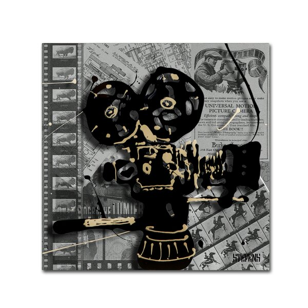 Movie Camera by Roderick Stevens Graphic Art on Wr