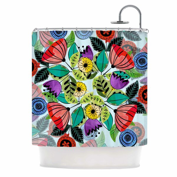 Famenxt Fresh Spring Flowers Shower Curtain by East Urban Home