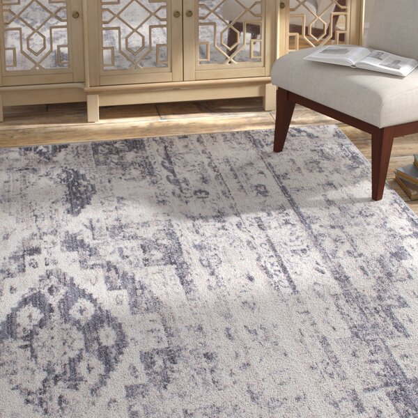 Bearden Gray Area Rug by Bungalow Rose