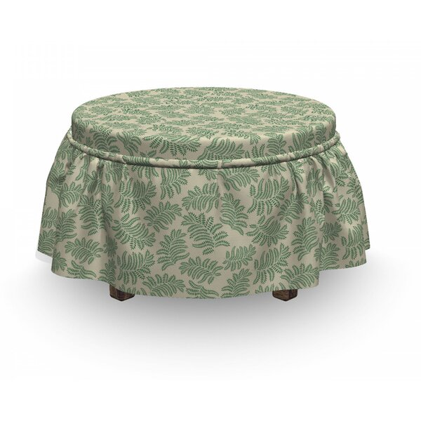Exotic Foliage Ottoman Slipcover (Set Of 2) By East Urban Home