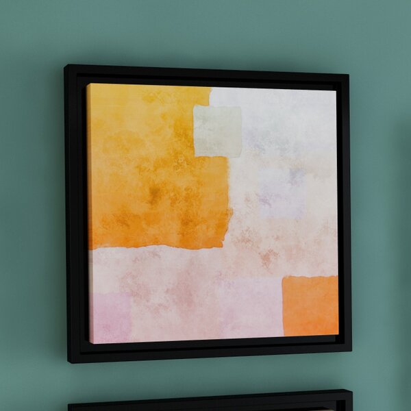Abstract Squares I Framed Painting Print on Wrapped Canvas by Langley Street
