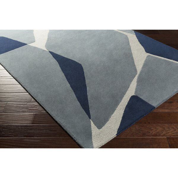 Nida Hand-Tufted Blue Area Rug by Wrought Studio