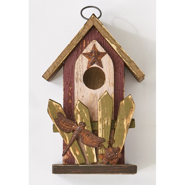 Wooden 9 in x 5 in x 5 in Birdhouse by Worth Imports