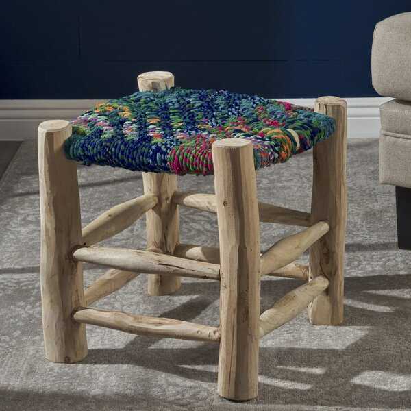Sid Cottage Accent Stool by Bungalow Rose