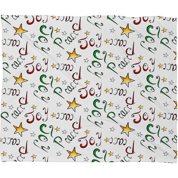 Madart Inc Peace and Joy Pattern Plush Fleece Throw Blanket by Deny Designs