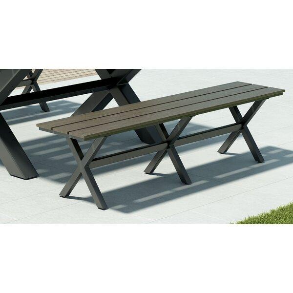 Hershman Aluminum Garden Bench by Brayden Studio