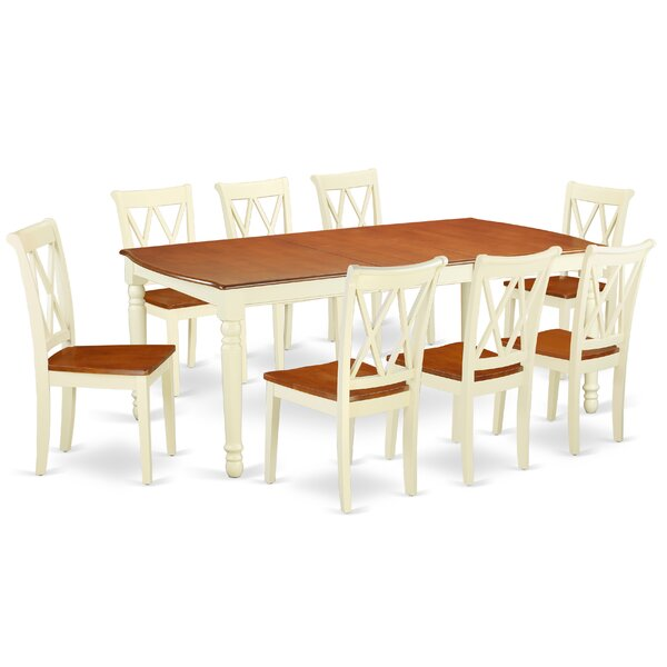 Kulick 9 Piece Extendable Solid Wood Dining Set by August Grove