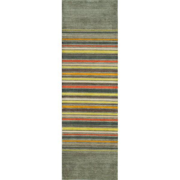 Donaghy Hand-Woven Gray Area Rug by Ebern Designs
