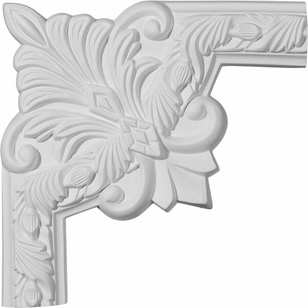 Milton 10H x 10W Running Leaf II Panel Moulding Corner by Ekena Millwork