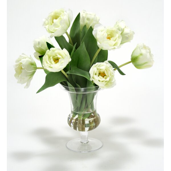 Waterlook Parrot Tulips in Glass Urn by Distinctive Designs