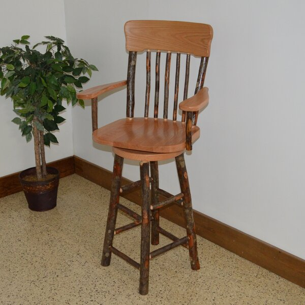 Hickory 29 Swivel Bar Stool by A&L Furniture