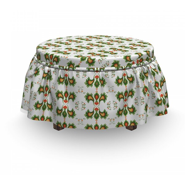 Nature Inspired Abstract Ottoman Slipcover (Set Of 2) By East Urban Home