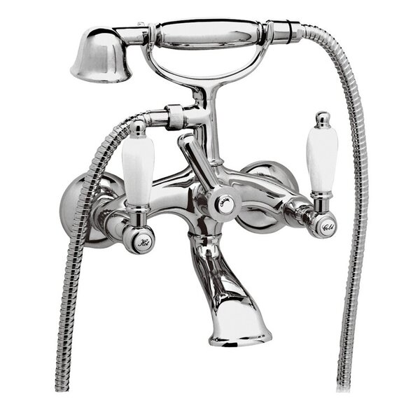 Double Handle Wall Mounted Clawfoot Tub Filler with Hand Shower by Remer by Nameek's