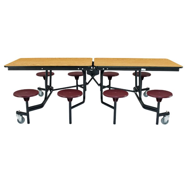 97 x 59 Rectangular Cafeteria Table by National Pu